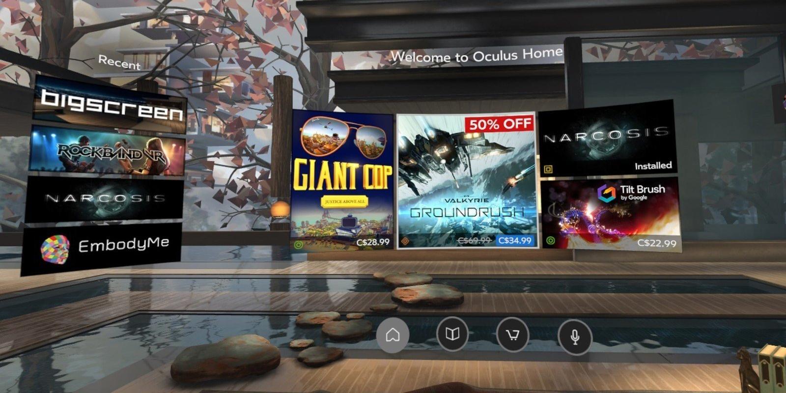 скидки на игры виртуальной реальности в oculus store