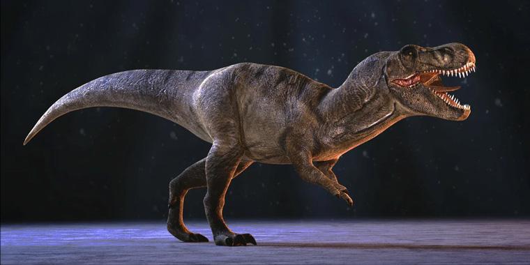 динозавр в виртуальной реальности